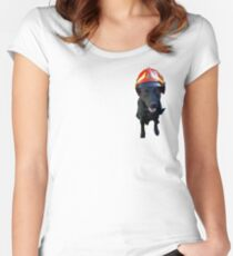 Firefighter dog Women's Fitted Scoop T-Shirt