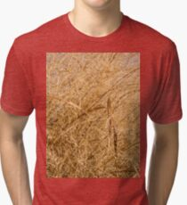 Natural Abstracts - Elaborate Shapes and Patterns in the Golden Grass Tri-blend T-Shirt
