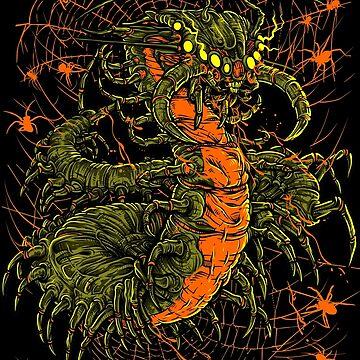 Centipede X Spiders by Crab-Metalitees