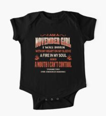 November Birthday Gift For Girl Born With Heart On Sleeve Kids Clothes