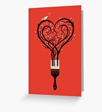 Paint your love song Greeting Card