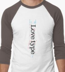 Love Type (b) Men's Baseball ¾ T-Shirt