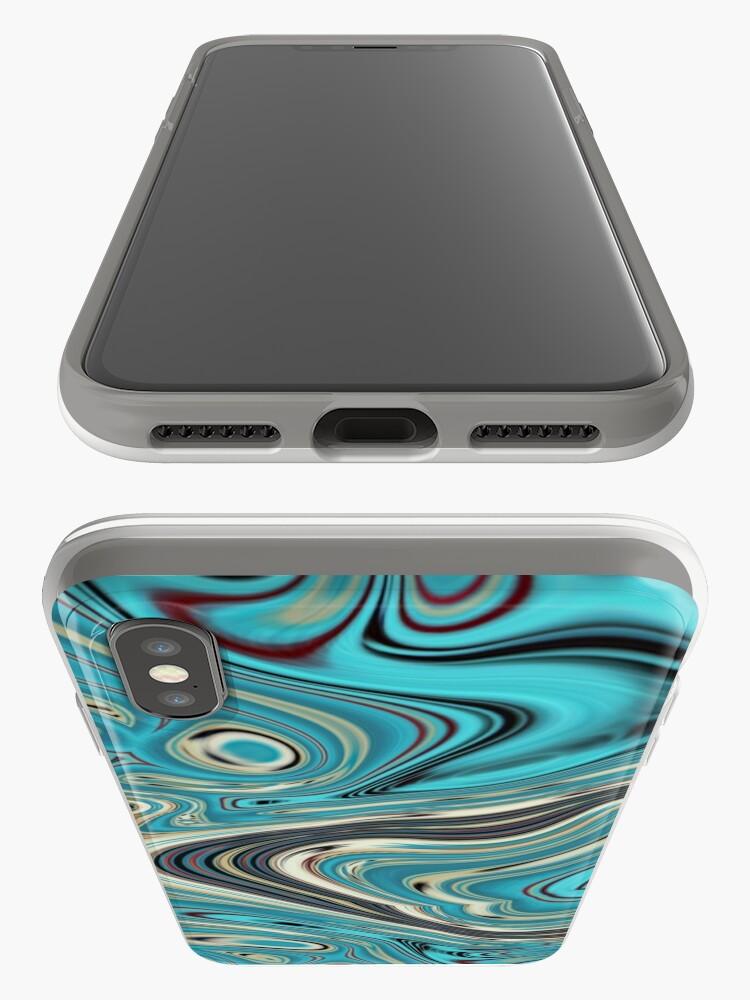 Alternative Ansicht von abstrakter Strandmarmormuster aquamariner Türkis wirbelt iPhone-Hülle & Cover