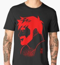ADAM PROFILE - LINEART RED Men's Premium T-Shirt