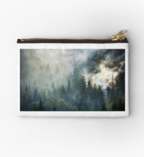 smoke rise above spruce forest Studio Pouch