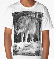 Timber Wolf Winter Menaces Long T-Shirt