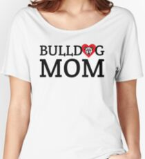 English Bulldog Mom Women's Relaxed Fit T-Shirt
