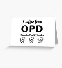 OPD Poodle Greeting Card