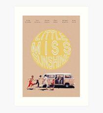 Little Miss Sunshine Retro Filmprint Kunstdruck