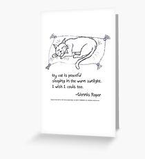 Cat Nap Haiku Greeting Card