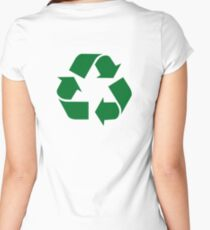 Reduce, Reuse, Recycle Women's Fitted Scoop T-Shirt