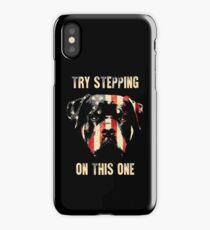 Patriotic Rottweiler iPhone Case/Skin