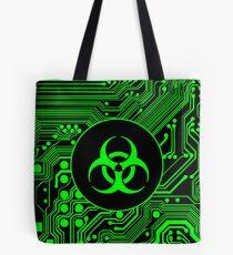 Green Biohazard (Cybergoth) Tote Bag