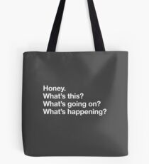 Karen Walker: Honey. Whats this? Whats going on? Whats happening? - WHT Tote Bag