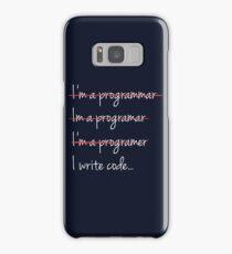 programming humor, I Write Code - Funny Programming Jokes - Dark Color Samsung Galaxy Case/Skin