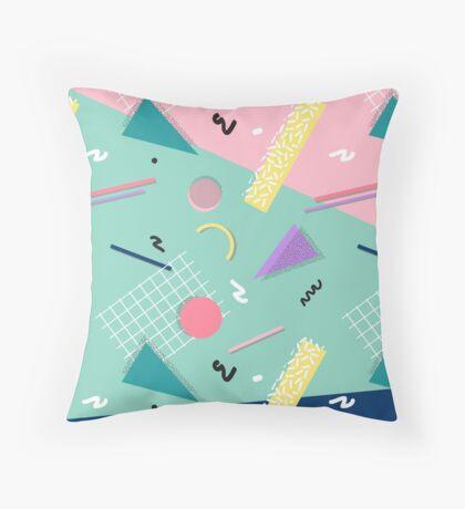 Dreaming 80s Pattern #redbubble #decor #buyart Throw Pillow