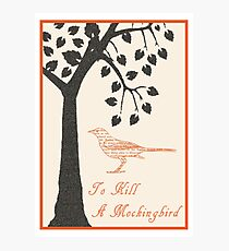 To Kill A Mockingbird Retro Print Photographic Print
