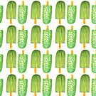 Cactus Popsicles Pattern #redbubble #decor #buyart by designdn