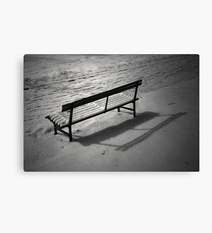 The Cold and Lonely Seat Canvas Print