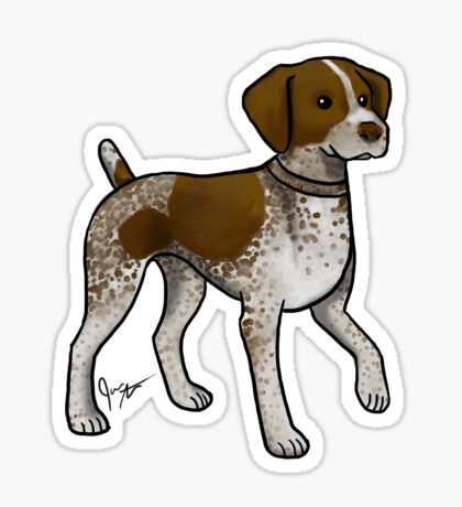 German Shorthaired Pointer Glossy Sticker
