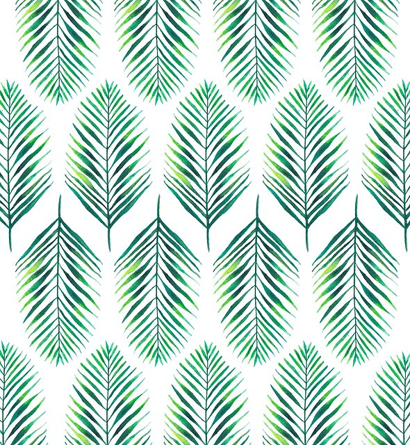 Tropical Leaf Pattern by ChipiArtPrints