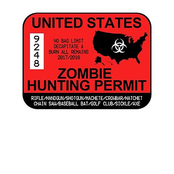 Zombie Hunting Permit 2017/2018 by zorpzorp