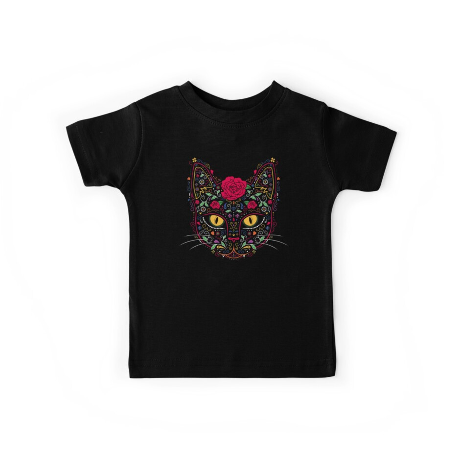 ce75ce0c Day of the Dead Kitty Cat Sugar Skull