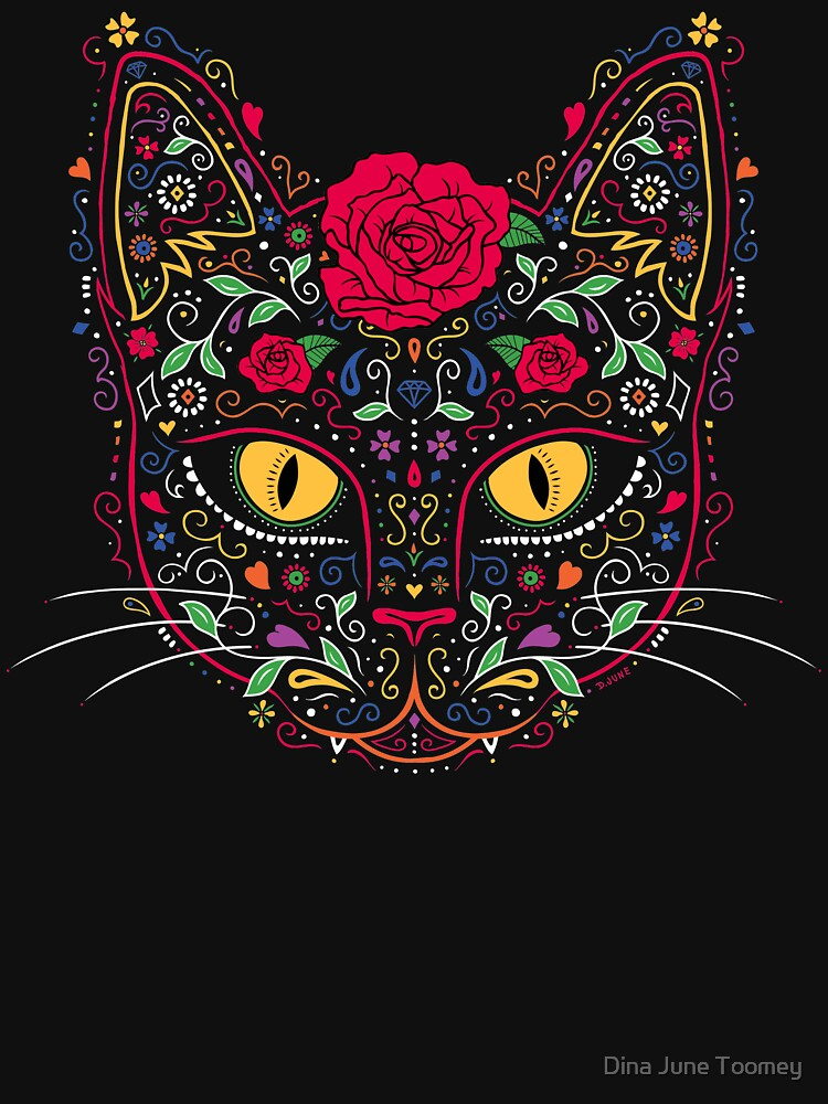 Day of the Dead Kitty Cat Sugar Skull by dinafiala