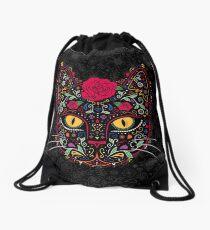 Mochila saco Día de los Muertos Kitty Cat Sugar Skull