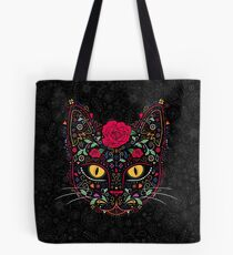 Bolsa de tela Día de los Muertos Kitty Cat Sugar Skull