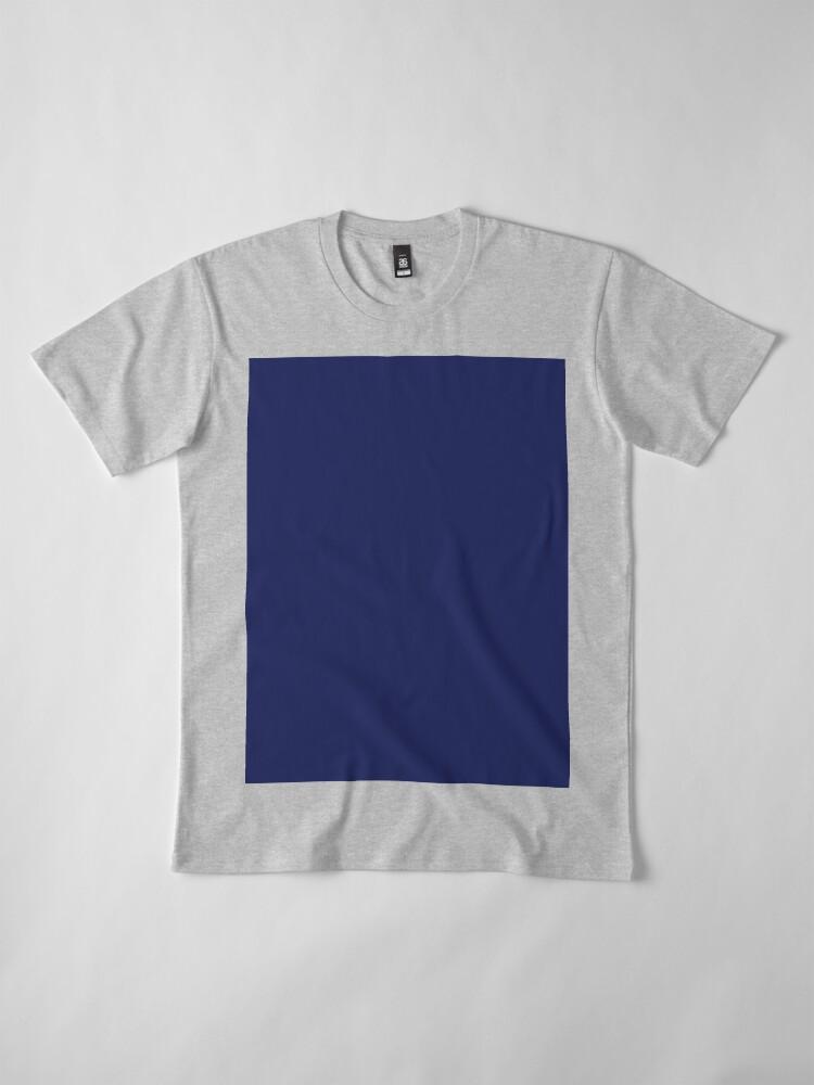 Vista alternativa de Camiseta premium moderno con playas preppy náutico azul marino