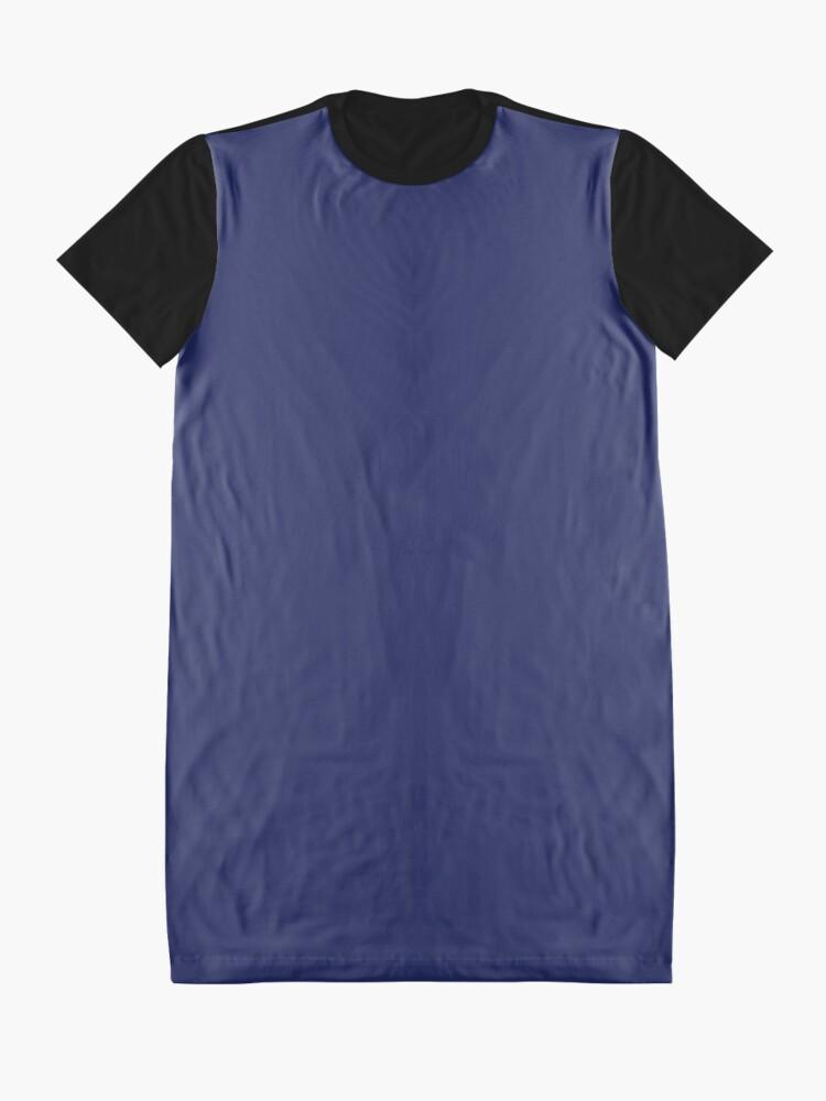 Vista alternativa de Vestido camiseta moderno con playas preppy náutico azul marino