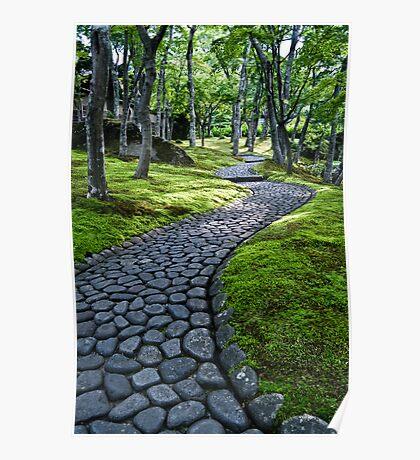 Path Through Moss Poster