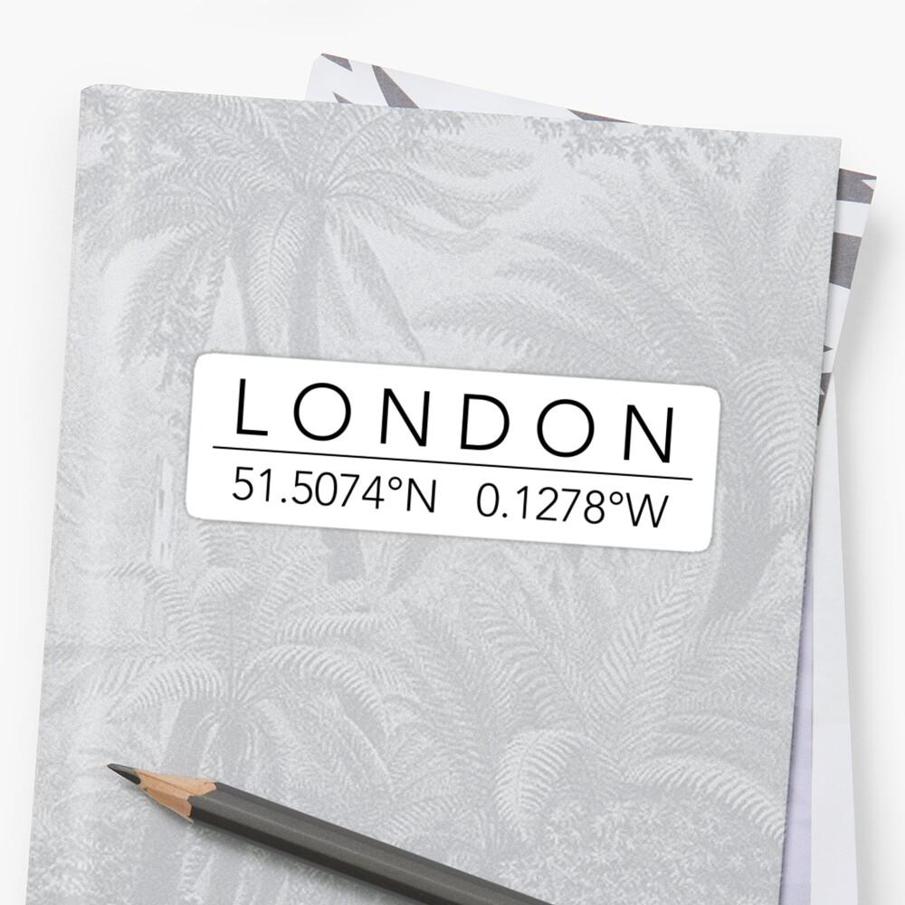 London Sticker Vorne