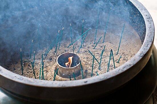 Insense Sticks and Smoke by eyeshoot