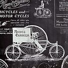 old advertisement chalkboard paris vintage bike by lfang77