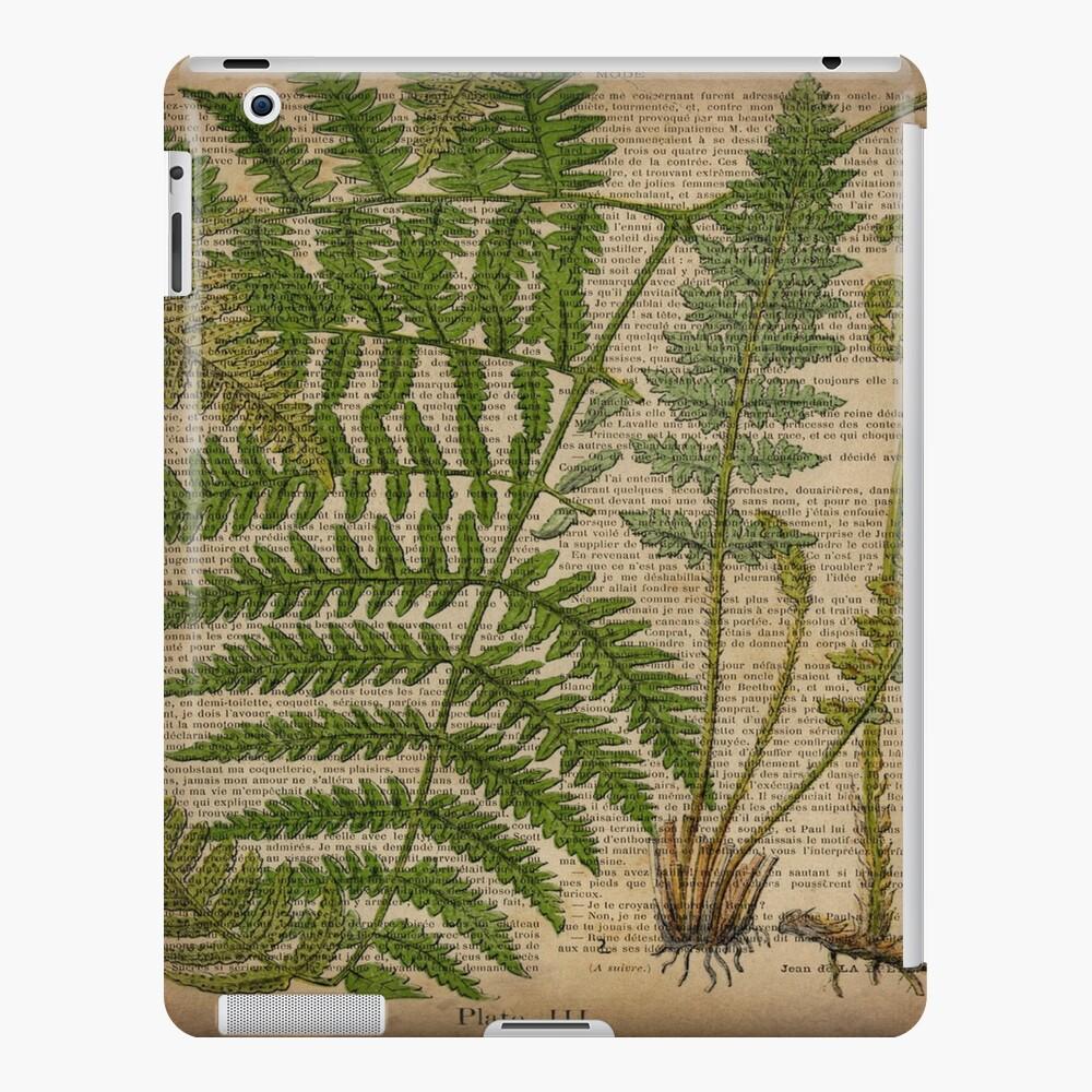 vintage foliage hipster botanical print fern leaves iPad Case & Skin