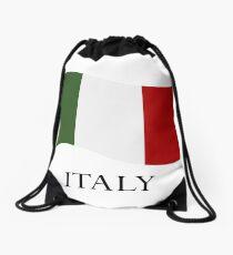Italian flag Drawstring Bag