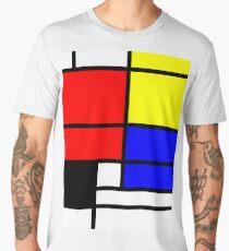 Mondrian style art deco design in basic colors Men's Premium T-Shirt