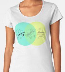 Keytar Platypus Venn Diagram Premium Scoop T-Shirt