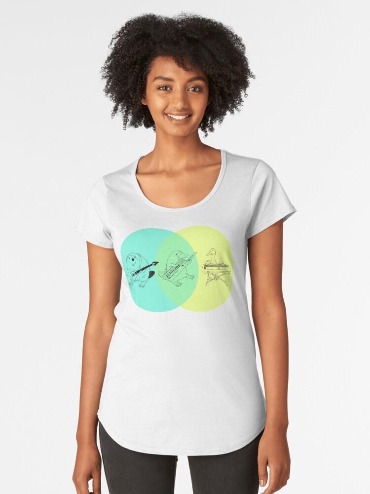Keytar Platypus Venn Diagram Womens Premium T Shirt By Guyblank