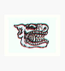 GORE HEAD Art Print