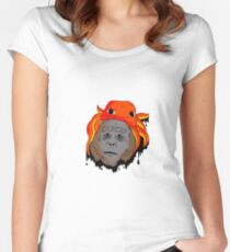 The Dripped Sasquatch  Women's Fitted Scoop T-Shirt
