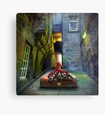 """Bagpiper from Trunk's Close"" Metal Print"