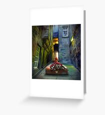 """Bagpiper from Trunk's Close"" Greeting Card"