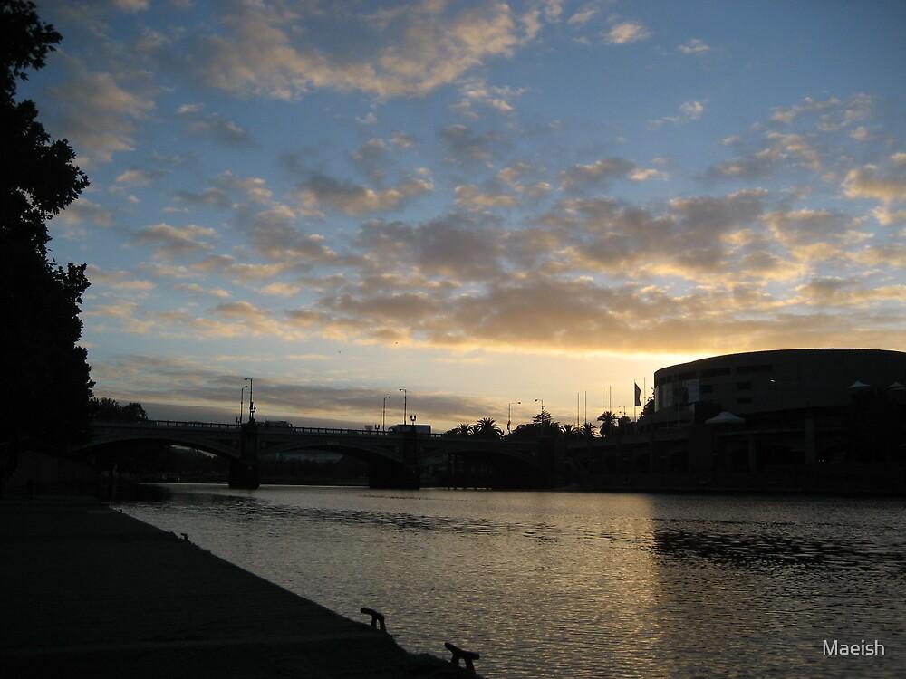 Sunrise by the Yarra by Maeish