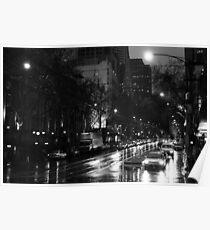 rain on Collins St Poster