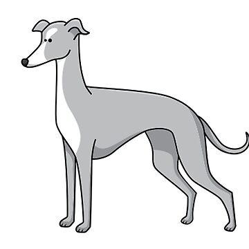 italian greyhound blue cartoon second by marasdaughter