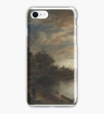 Moonlit Landscape with a Road beside a canal ca. 1645 - 1650 Aert van der Neer iPhone Case/Skin