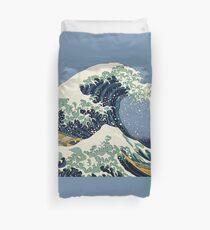 The Great Wave by Katsushika Hokusai Duvet Cover
